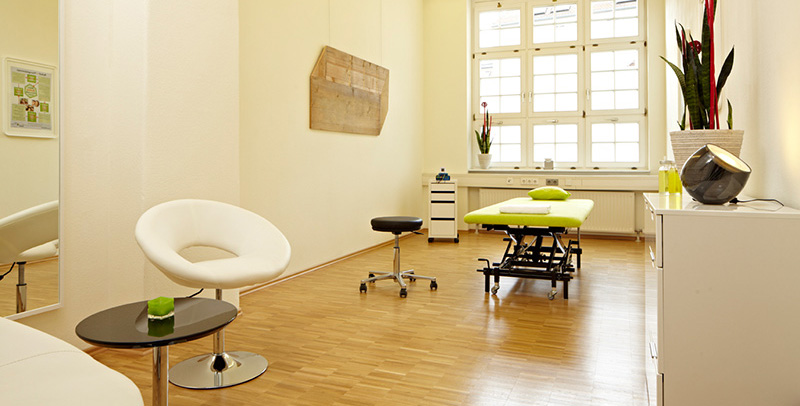 Therapiezimmer in der Physiotherapie Praxis reset in Stuttgart