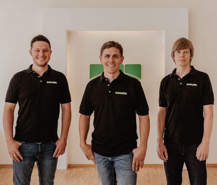Bild von den reset-Inhabern Joachim Tyburzy, Ole Hansen und Matti Pröfrock